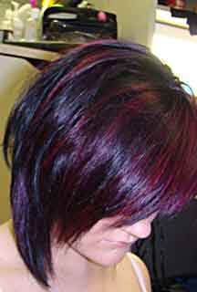 Special effects hair dye cherry bomb