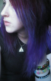 Pic 1 Here Is Deep Purple On The Top Layer With Wildflower Bottom Of Hair This Was Day After Dying It Over Bleached