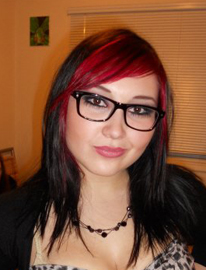 Cherry Brown Hair with Highlights