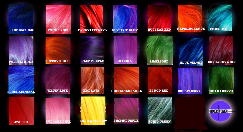 Special Effects Hair Color Swatches